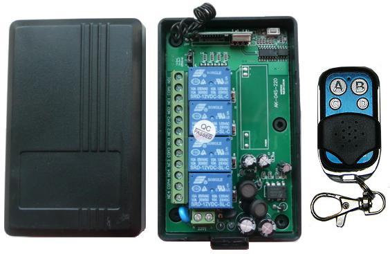 RC-4-220-AK-KP4. Выключатель дистанционный на радиочастоте. 4 канала. 433 МГц. 3 режима работы