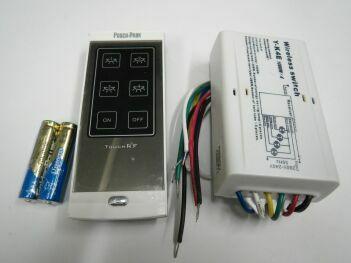 PY-K4E. Четырёхканальный дистанционный переключатель коммутируемой мощностью 1000 Вт с монолитным исполнительным устройством и сенсорным пультом ДУ