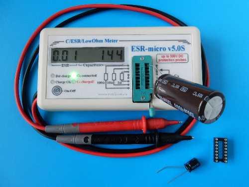 ESR-micro v5.0S Измеритель ёмкости и esr на батарейках