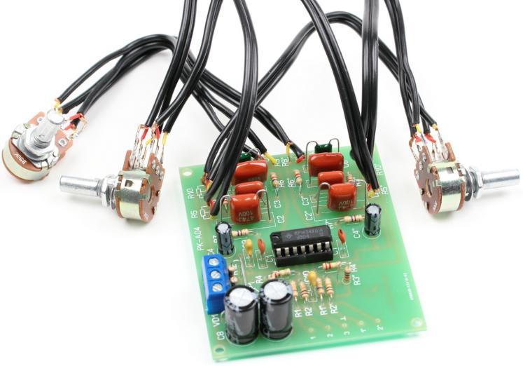 Радиоконструктор RKT-S06. Предварительный УНЧ с регулятором тембра
