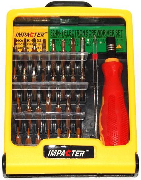 IMPACTER DK-6032A. Набор отвёрток (32 в 1)