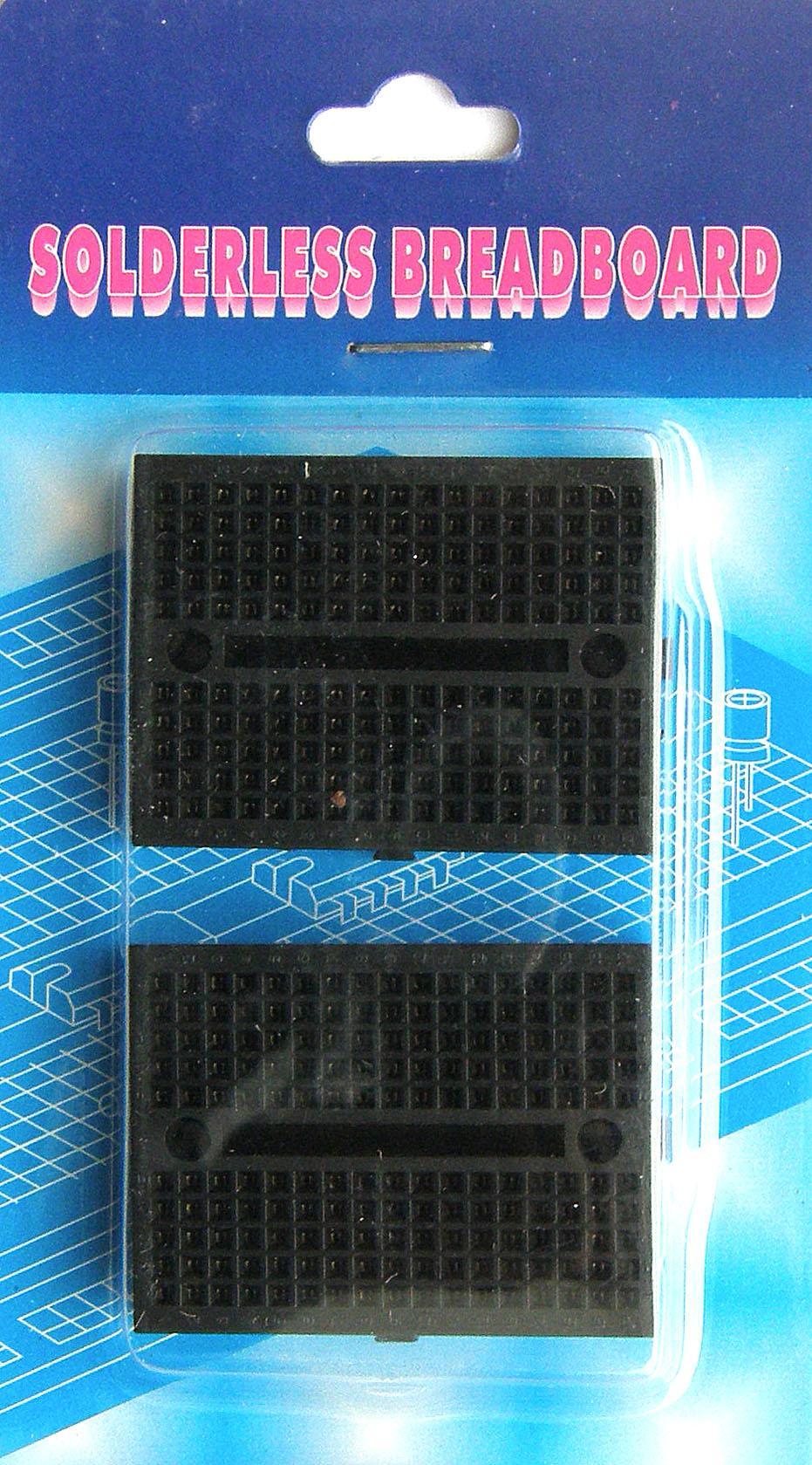 BB-601P. Набор из 2-х макетных плат для монтажа без пайки. Чёрные