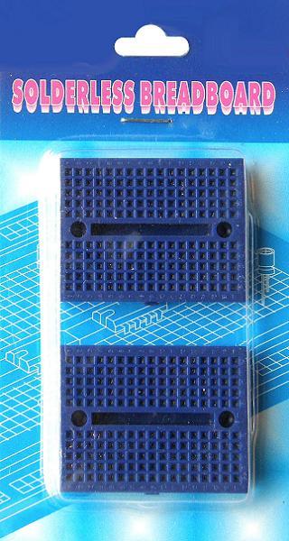 BB-601P. Набор из 2-х макетных плат для монтажа без пайки. Синие