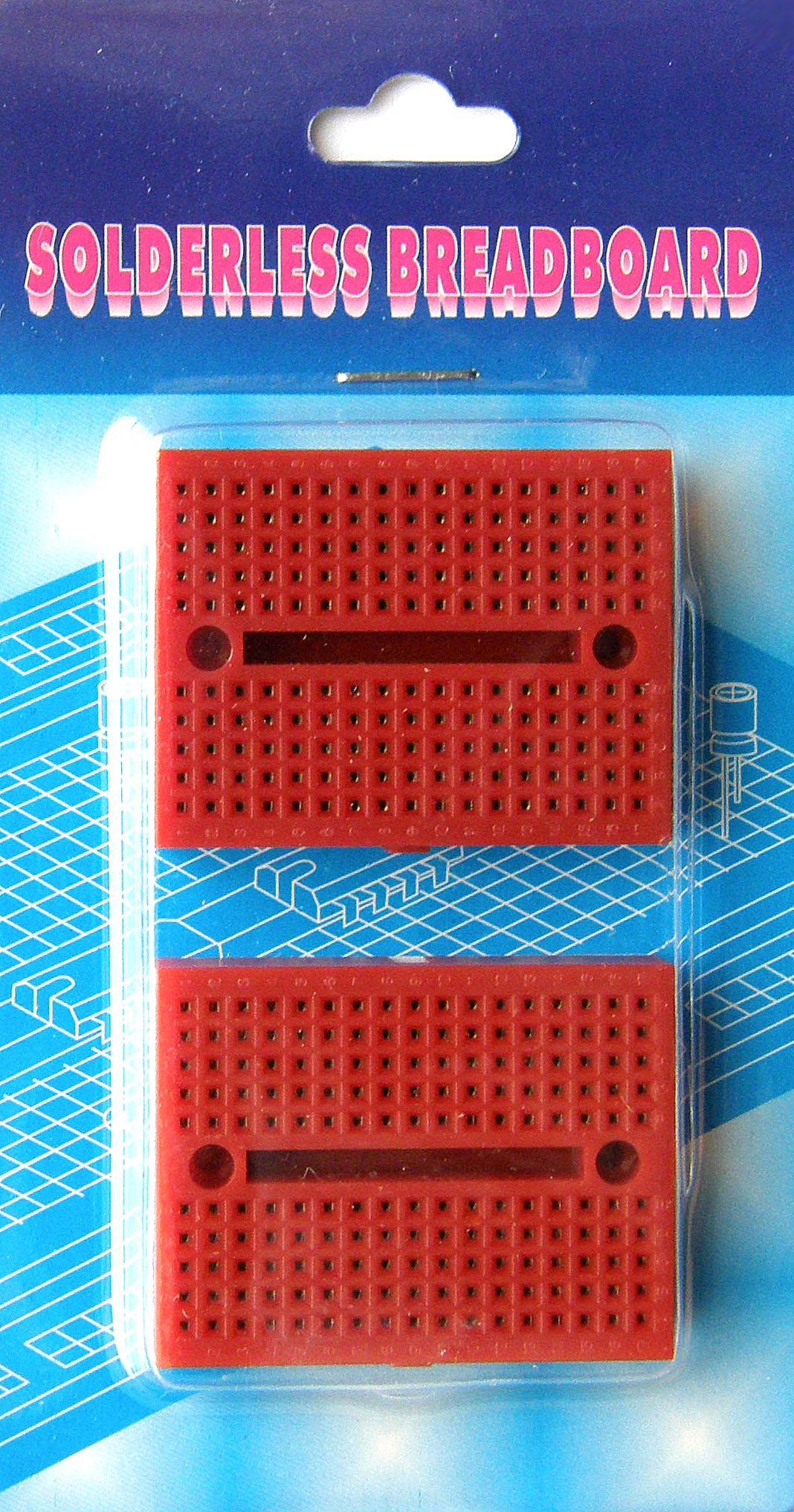 BB-601P. Набор из 2-х макетных плат для монтажа без пайки. Красные