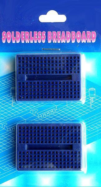 BB-601. Набор из 2-х макетных плат для монтажа без пайки. Синие