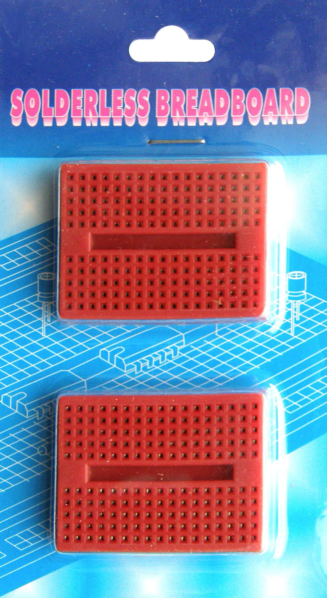 BB-601. Набор из 2-х макетных плат для монтажа без пайки. Красные