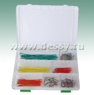 Комплект цветных монтажных перемычек BBJ-350 для макетных плат без пайки (беспаечная макетная плата)