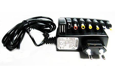 Адаптер VANSON SMP-2A (110-240V-->3 / 5 / 6 / 9 / 12 / 13,8V, 3-12V-2500 mA,13,8V-2200mA, стабилизированный, импульсный)