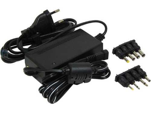 Адаптер стабилизированный, импульсный ROBITON EN2250S.  Вход: 100 - 240 V, на выходе: 3 / 4,5 / 5 / 6 / 7.5 / 9 / 12 V, 2250 mA, 8 штекеров