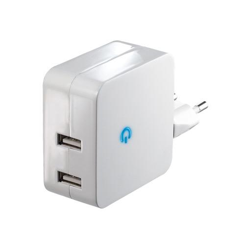 Адаптер имульсный, стабилизированный ROBITON USB 2100TWIN / Auto (12 V в 5 V, 2 х USB выхода, 2100 mA
