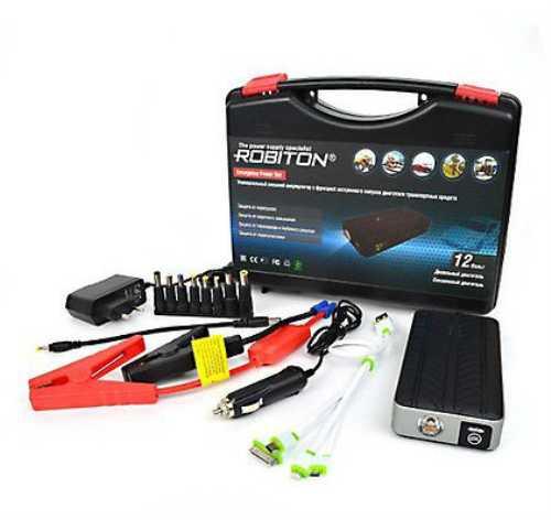 Универсальный внешний аккумулятор ROBITON Emergency Power Set с функцией экстренного запуска двигателя. Новинка!