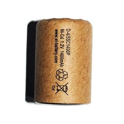 Аккумулятор D-4 / 5SC1400P в картоне (NiCd 1400mAh 23,034,0mm)