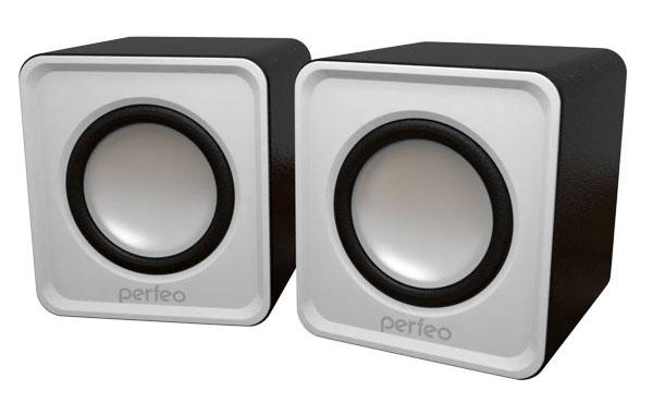 Колонки PERFEO PF-128 Wave 2.0, мощность 2х3 Вт, белые