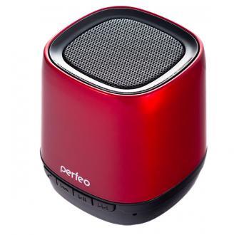 PERFEO i80RED. Колонка-скайпофон. Bluetooth, USB-audio, MP3 (microSD), 3 Вт, Bass Booster. КРАСНАЯ