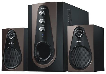 Колонки PERFEO Scenic 2.1, Bluetooth, FM, USB/SD, ПДУ, мощность 20 Вт+2 х 5 Вт