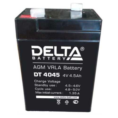 Аккумулятор DELTA DT4045 (4V 4.5Ah, 70x47x107mm)