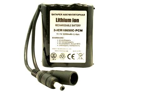3-ICR18650F-PCM (11,1V 2200mAh, 3S1P)