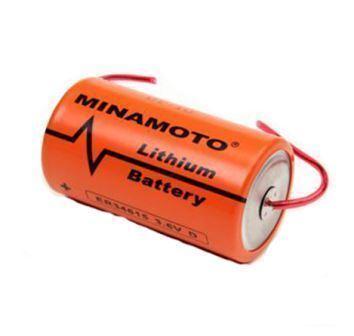 Литиевые батареи MINAMOTO ER 34615/W 3,6V Lithium D