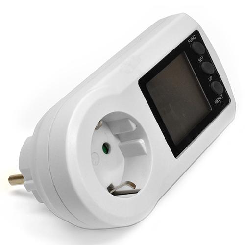 Ваттметр ROBITON PM-2 (Максимальная нагрузка 16A, 3600Вт; настройка двух ценовых режимов)