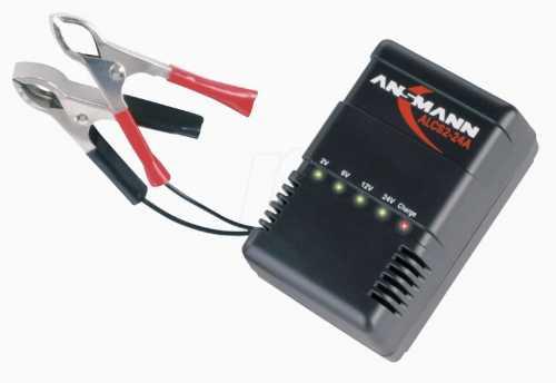 ANSMANN ALCS 2-24 A (для свинцово-гелевых аккумуляторов 2-6-12-24V 0.9A, многоступенчатый контроль процесса заряда)