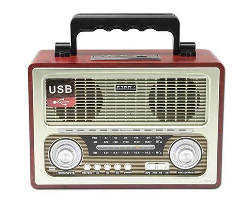 Радиоприемник БЗРП РП-312, СВ/КВ/УКВ 64-108 МГц, 220 V + батарейки, USB, SD