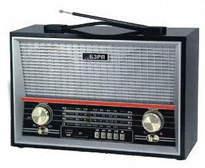 Радиоприемник БЗРП РП-313, бат. 6*R20 (не в компл.), 220V, USB, SD, стереозвук