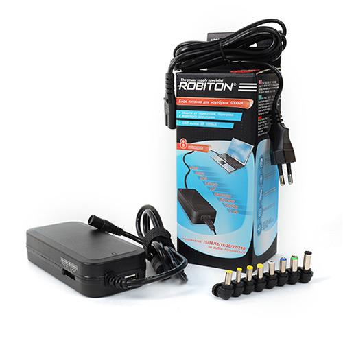 Адаптер ROBITON NB90W  ( 110-240V в 15/16/18/19/20/22/24V-5000-3750mA, стабилизированный, импульсный, для ноутбуков )  ( 10/20 )