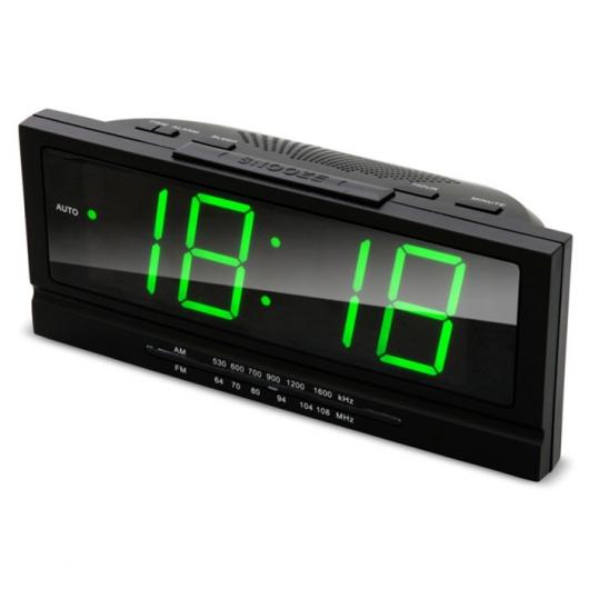 Радиобудильник RITMIX RRC-1809 (цифровой дисплей 40мм (высота цифр), радио FM: 64-108МГц)