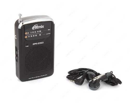Радиоприемник RITMIX RPR-2060 Чёрный (AM/FM, 2*AAA)