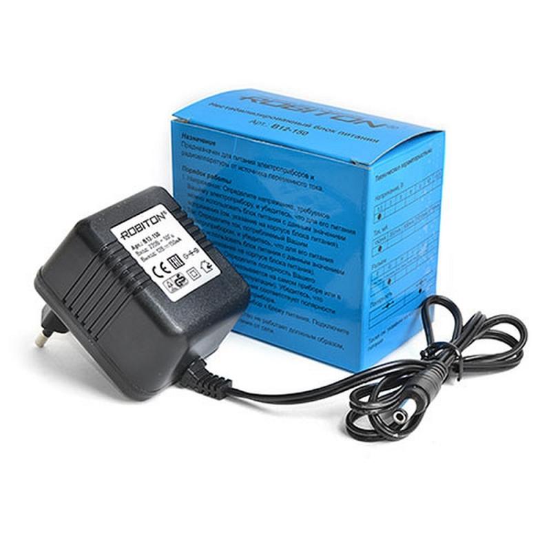 Адаптер ROBITON B12-150 (220V-->12V, 150mA, нестабилизированный, для антенн) Новинка!