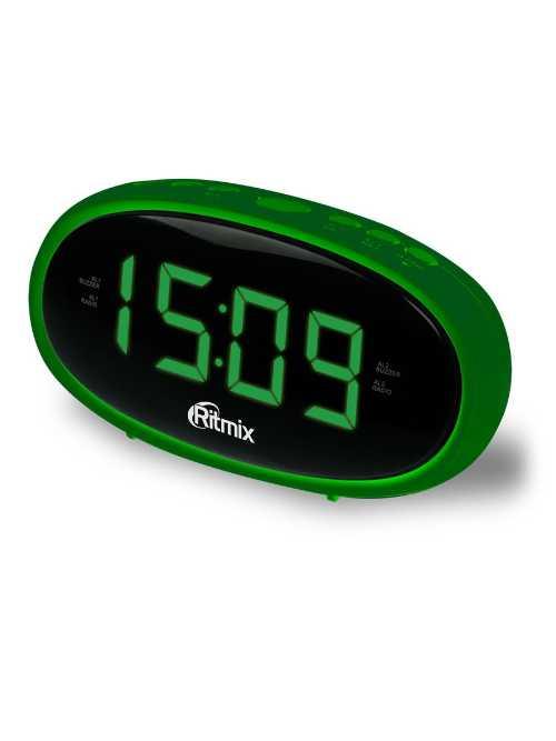 Радиобудильник RITMIX RRC-616 Green (цифровой дисплей 15 мм (высота цифр), радио FM: 64 - 108 МГц)