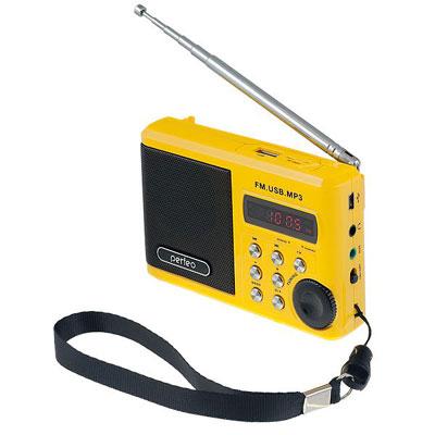 Радиоприемник PERFEO Dual Band Sound Ranger PF-SV922AU, USB, microSD (жёлтый)