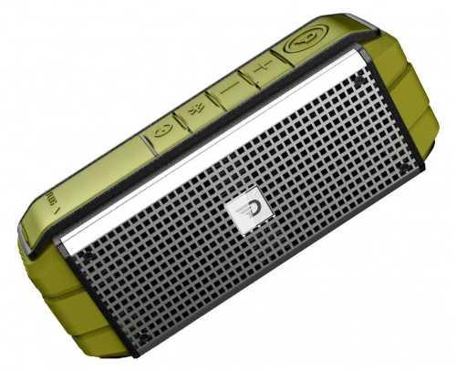 Компактная активная акустическая система DREAMWAVE Explorer Green (Bluetooth, мощность 15 Вт, крепление на руль для велосипеда в комплекте, защита от воды / песка / пыли уровня IPX5)        Новинка!