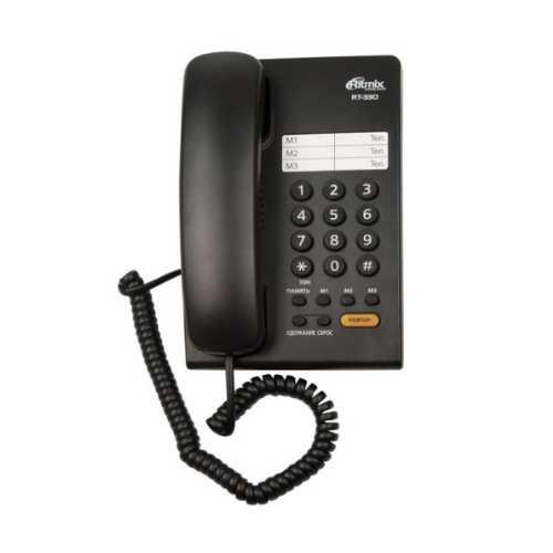 Телефон RITMIX RT-330 Black        Новинка!