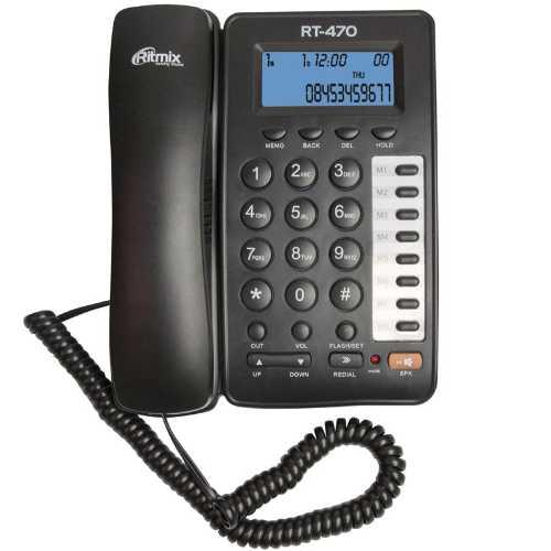 Телефон RITMIX RT-470 Black        Новинка!