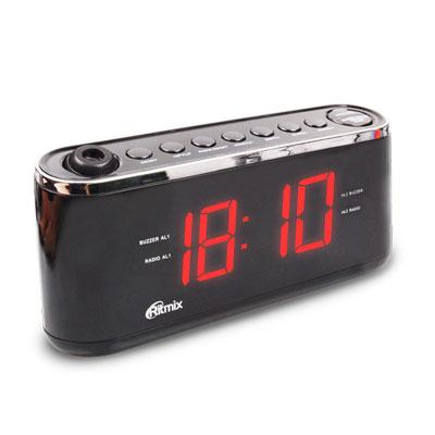 Радиобудильник RITMIX RRC-1295 (цифровой дисплей 30мм (высота цифр), радио FM: 87.5-108МГц)        Новинка!