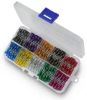 Набор RSG автопредохранители (100 шт., разные цвета, 19 x 5 x 18.5 mm)