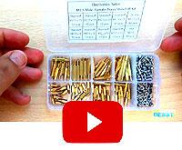Набор RSG латунных стоек (240 штук, шестигранные стойки, винты и гайки 6 / 8 / 10 / 12 / 15 / 18 / 20 / 25 мм)