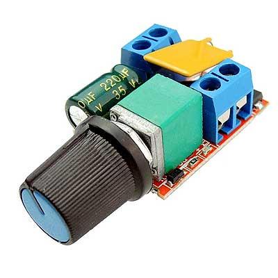Регулятор оборотов двигателя ШИМ напряжение 3-36 В ток 5 А