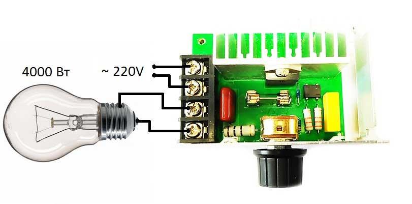 MK067M Регулятор мощности 220В / 4 кВт (18 А) в корпусе с радиатором