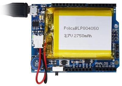 Модуль RP062. Arduino Power Shield (ИБП)