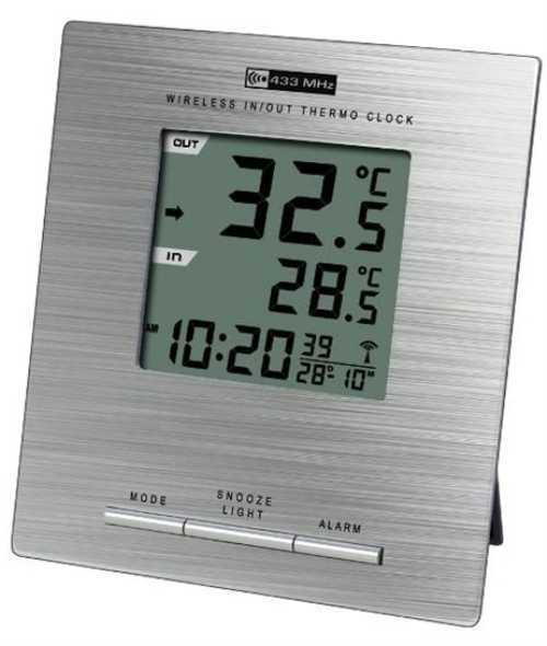 Метеостанция Carrin KW9214CC-D(2) с радиодатчиком (прогноз погоды, часы, температура внешняя и внутренняя)