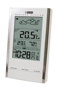 Метеостанция  Carrin MC-184 White с радиодатчиком (прогноз погоды, часы, относительная влажность, температура внешняя и внутренняя)
