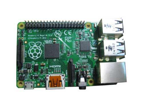 Модульный компьютер Raspberry Pi Model B+ на базе процессора Broadcom BCM2835 ARM 11 700МГц + 4-х ядерный GPU с оперативной памятью 512МБ