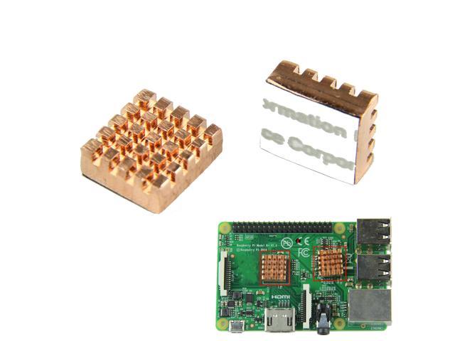 Радиатор для Raspberry Pi (комплект из 2-х: на процессор и на мост)