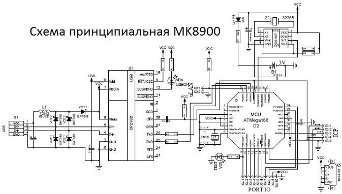 MK8900. USB часы реального времени (RTC) для Windows РC, Android смартфонов и планшетов