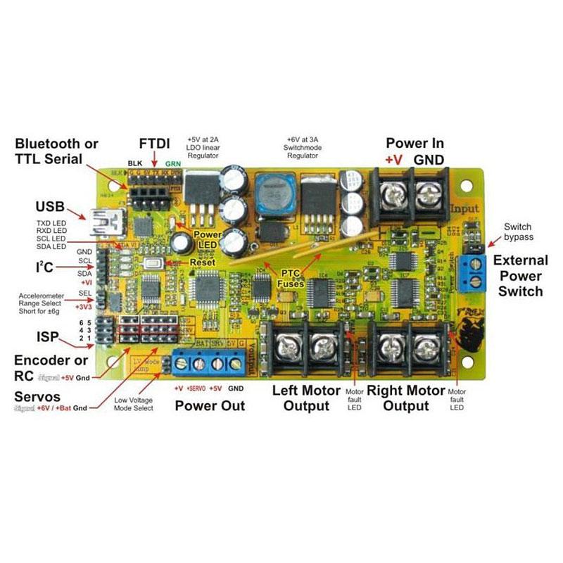 Arduino совместимый контроллер для роботов