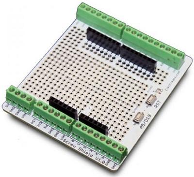 SH PSCREW. Макетная панель с винтовыми разъёмами. Плата-расширение для Arduino