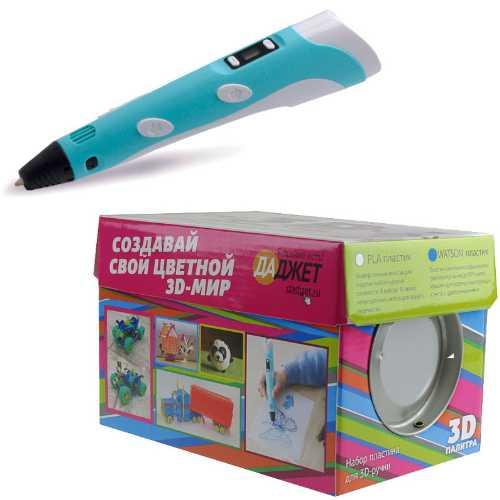 3D ручка 3Dali Plus Blue + набор пластика WATSON 3D палитра