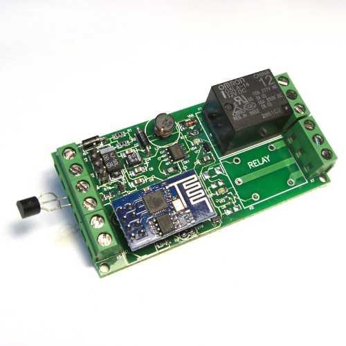Интернет-термометр и 1 реле MP3504, технология MQTT.